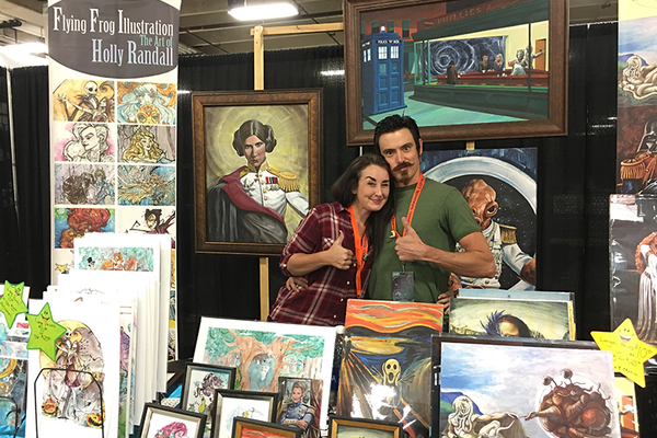 Indy artists Holly Randall and Christopher Wilson blend classical art with modern-day animations @ CSCC 2016