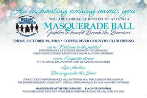 Masquerade Ball Jubilee to Benefit Break the Barriers - start Oct 21 2016 0600PM
