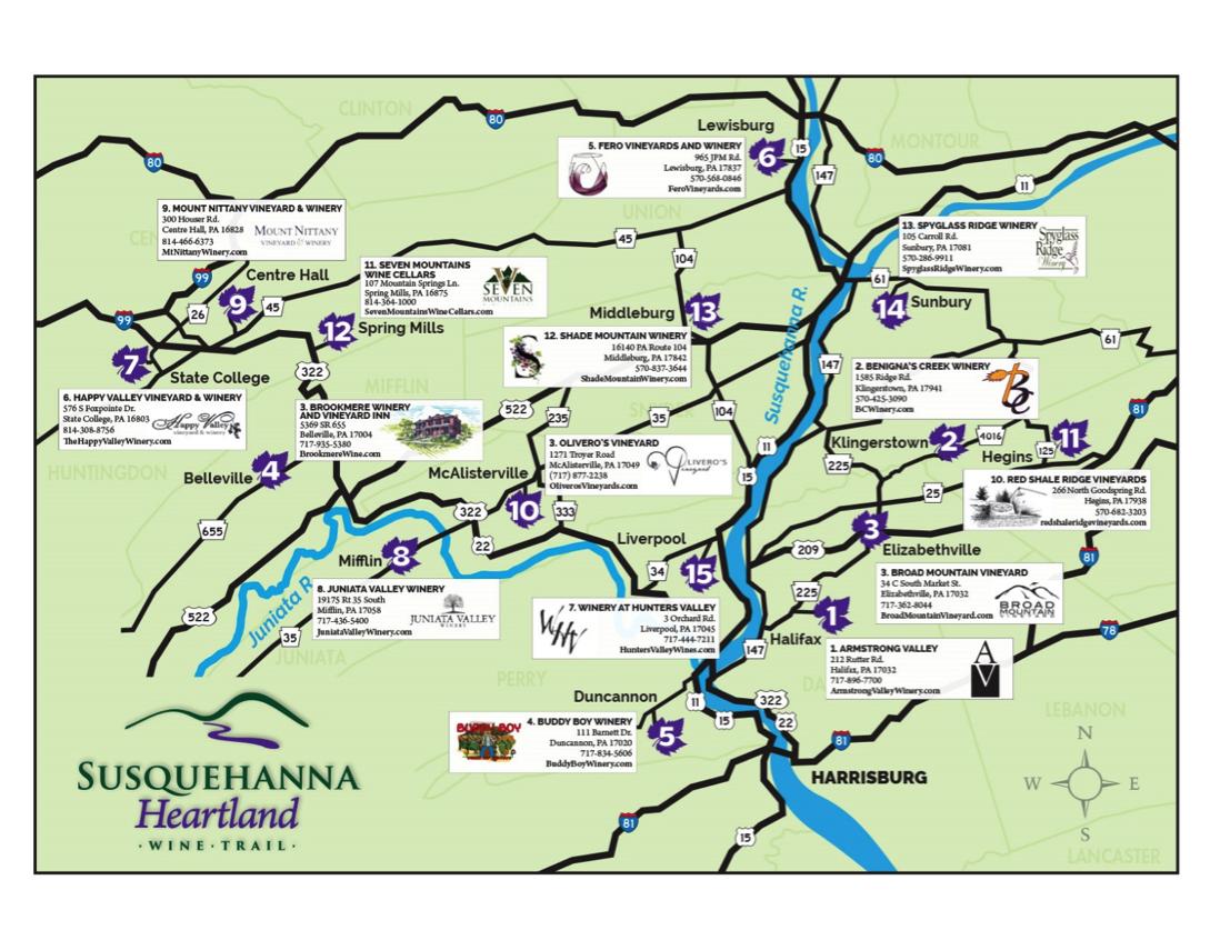 Susquehanna Heartland Wine Trail Wineries Susquehanna Life