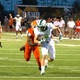 Cade Bell evades a Yellow Jacket defender in a 30-23 Dragon win vs Rockwall ISD on Friday 9/9/16. Photo Courtesy of SnappedDragons.com S.Johnson.