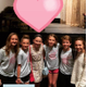 After the show, Ella greets some of her friends & cast-mates from the Acting Studio. Pictured left to right: Julia Ritchie, Lilly Curlee, Ella Weaver, Ayden Cheek, Matthew Hyslop, and Peyton Fleming.