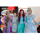 During the pre-show reception, several Acting Studio students dressed as princesses and circulated the lobby for photos. Pictured here L - R: Caitlin Davidson as Rapunzel; Ella; Kate Karau as Ariel; Aubrey Parr as Cinderella.