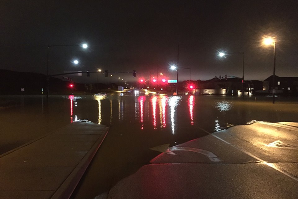 Street flooding in Maple Grove Wednesday, Sept. 21, 2016. (photo provided by Hennepin County Emergency Management)