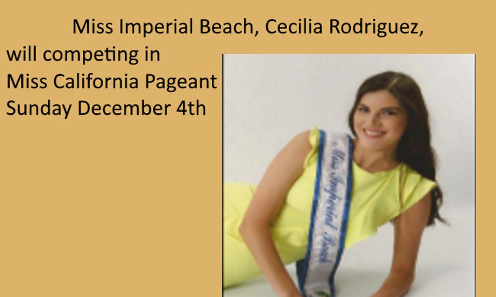 Cecilia Rodriguez Calendario 2020.Miss Imperial Beach Now Miss San Diego Cecilia Rodriguez