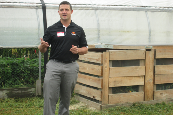 Joel Smith of Tri-M explains the company's role in automating one of the Patton greenhouses.
