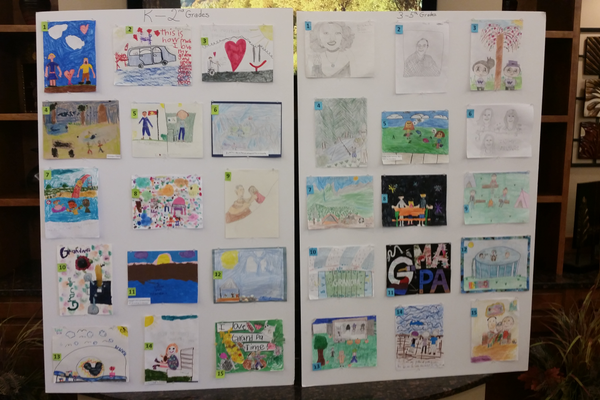 Kids from Willow Springs Elementary submitted artwork to Draper Beehive Homes about why they love their grandparents. (Kelly Cannon/City Journals)