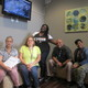 Seated in the reception area of the Recovery Center are from left Cheryl Raymond who handles incoming guests Alice Scott support and service coordinator Courtney Brooks a peer recovery coach Julio Cardenas a constable and LeKesha Ashe a peer recovery coach