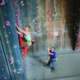 Top rope climbers enjoy the various climbing walls at the Sandy location. (Momentum Indoor Climbing)