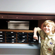 For his Eagle Scout project and to give back to his passion of performing on stage at Elk Ridge Middle School, Bryson Rasmussen, with the help of others, built shelves for the theater department to keep the microphones organized. (Christine Rasmussen/parent)