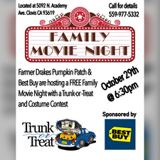 FREE Family Movie Night - start Oct 29 2016 0630PM