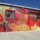 Susan Melrath stands with her completed mural in Oxford on Oct 6