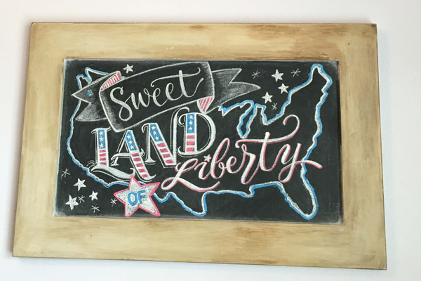 Lori Howell's chalk artwork hangs in her house. (Tori La Rue/City Journals)