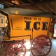 An early ice wagon most likely pulled by a pony