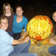 Carving a pumpkin is sometimes a family affair