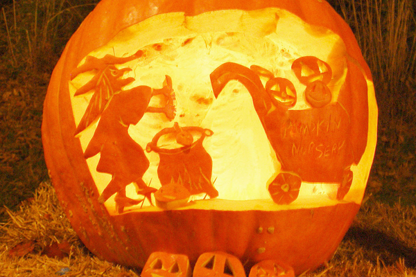 Witches and goblins are a recurring theme at the Pumpkin Carve.