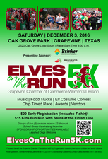 Elves on the Run 5K - start Dec 03 2016 0830AM