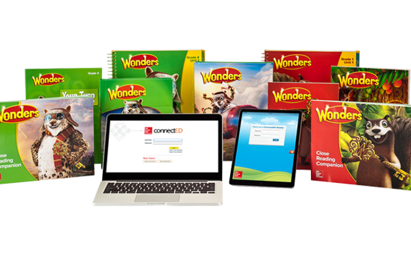 Wonders Reading offers print and digital resources. (McGraw Hill)