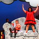 Lucy, played by Krista Gowda, tells her brother Linus, played by Drew Thompson, all about her plans to become a queen.  (Karla Marsden/Sandy Arts Guild)