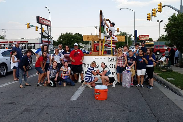 The Murray Youth Excel Club gave out 14,000 flags at Murray's Fourth of July celebration (Murray Youth Excel Club)