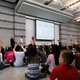 Neil Armstrong Academy students ask questions of Andy Haaland from Orbital ATK on Oct. 11. (Travis Barton/City Journals)