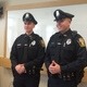 New Dracut Police officers Connor Geoffroy and Kyle Donahue.