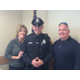 New Dracut Police Officer Kyle Donahue poses with his proud parents, Amy and Michael Donahue.