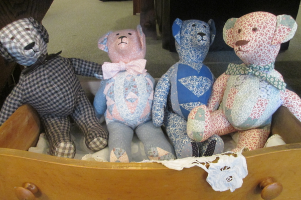 These handmade bears are waiting to be much-loved presents on Christmas Day.