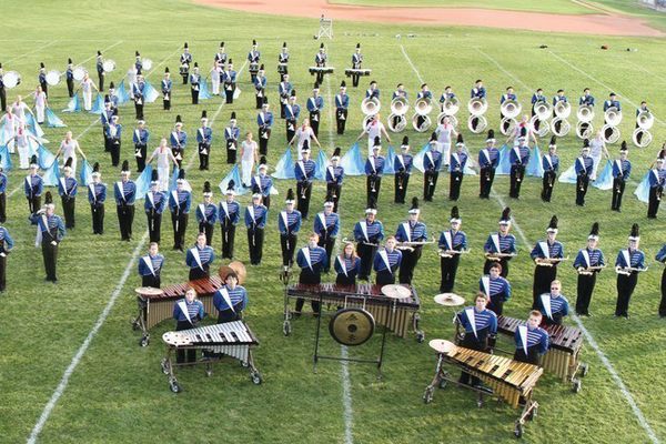 Bingham High School marching band recently won its first state title. (Bingham High School)