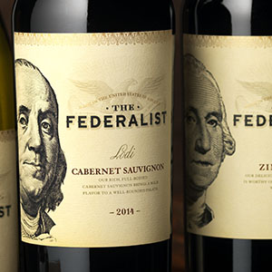 The federalist wine label and package design 1