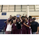 Bennion Junior High Boys Volleyball players celebrate winning the championship game against Olympus Junior High on Oct. 19. Bennion hadn't won a boys volleyball championship since 1996. (Granite School District)