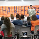 Gabriel Overbaugh performs his slam poetry in front of fellow poets and faculty judges. (Jet Burnham/City Journals)