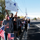 Valley Junior High students demonstrate their support during the funeral procession for West Valley City Police Officer Cody Brotherson on Nov. 14. (Travis Barton/City Journals)