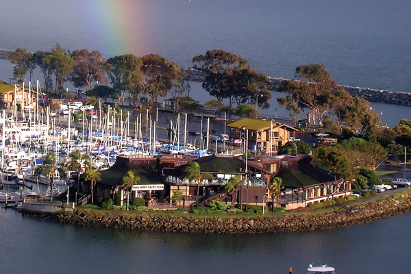 The Dana Point Yacht Club in Dana Point Harbor.