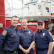 Folsom Fire Department Firefighters Joe Saunders and Caprice Huguenot with West Point Fire Department Asst. Chief Terry Miller