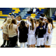 Skyline High School girls basketball team listens to Head Coach Lynette Schroeder in between quarters on Jan. 6. (jorgiabarryphoto)