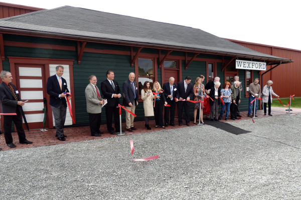 Wexford Station ribbon cutting, Photo courtesy of Pennsylvania Trolley Museum