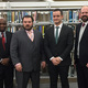 Bill Mercantini second from left was named school board president at the Jan 4 2017 Board of Education meeting Left to right business administrator Eloi Richardson Mercantini board vice president Joshua Fausti and superintendent Edward Forsthoffer III