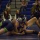 A Bingham wrestler works a chicken wing against a Copper Hills opponent. (Lauren Heaps/Resident)