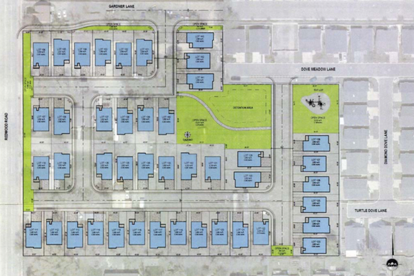 Alpine Homes' concept plan for 6.25 acres at 8679 South Redwood Road. The West Jordan City Council approved a rezone and land-use amendment on Jan. 11 that would allow developers to build a development like this on the property. (West Jordan City)