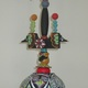Little's experiences in the Southwest inspired this totem pole-like sculpture.