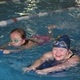 Maya and Elise swim down the pool during their class. (Travis Barton/City Journals)