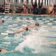 A couple of Alta swimmers neck and neck in an event earlier this season. (Kelsie Court/Alta Head Coach)
