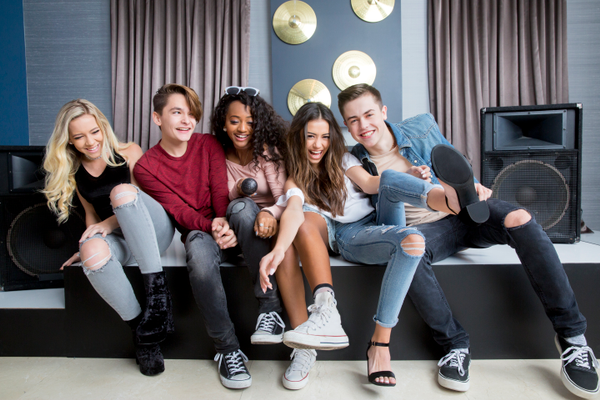 "Madysyn Rose, Ian Grey, Cravetay, Ashlund Jade, Grant Landis star in ""The Pop Game,"" airing Tuesday, Feb. 21, at 10 p.m. ET/PT on Lifetime. Ashlund, 14, is from Riverton. (©2016 A&E Television Networks, LLC)"