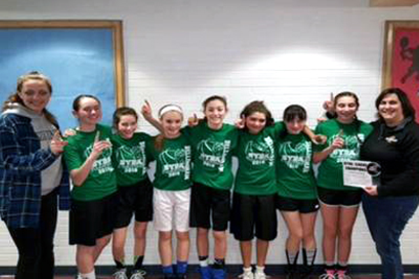 The Girls 7th- and 8th-Grade Division featured an exciting game between Cotter Clovers and Coachmen's Lodge teams. The score was close throughout the entire game and up to the last minute, when Cotter Clovers was to able pull ahead and win the game 49-45. Both teams played hard and wouldn't give up despite challenges they faced throughout the game. Great job to all the girls!