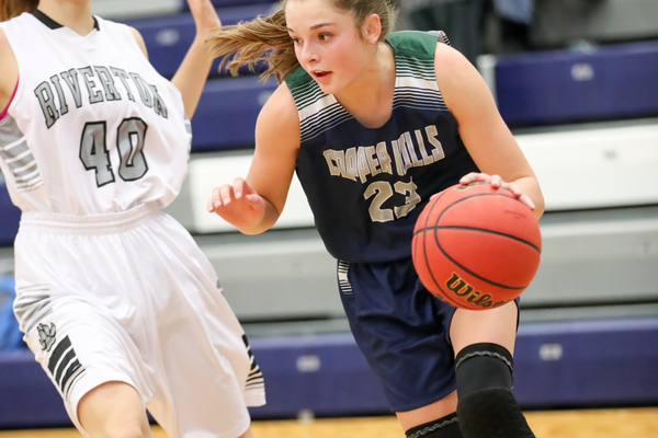 Copper Hills sophomore Breaunna Gillen has averaged nine points a game this season. (Dave Sanderson/dsandersonpics.com)