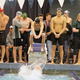 Hillcrest boys swimmers swim the 200-yard freestyle relay at the 4A state championships. (Travis Barton/City Journals)
