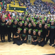 Hillcrest High School drill team were all smiles with their second-place state trophy. The team also won the sportsmanship award. (Chelsea Divine/Hillcrest High School)