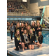 The Cottonwood Colts ladies pose with their team 2nd place trophy they earned at the 2017 5A State Swimming Championships. (Ron Lockwood/Cottonwood High swim team)