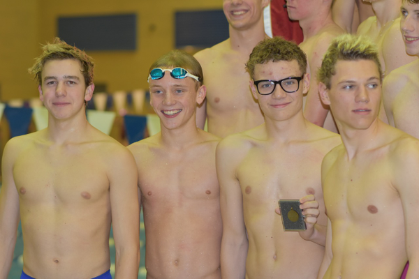 Highland High boys swim team finished second at their region meet. (Cindy Nordstrom/Highland swim team)
