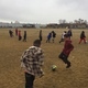Students play soccer at recess as part of the Playworks program. (Josh Rose/Playworks)